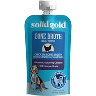 Solid Gold Chicken Bone Broth with Lavender & Chamomile Dog Food Topper, 8-oz pouch
