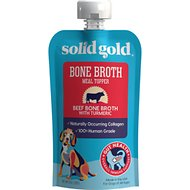 Solid Gold Beef Bone Broth with Turmeric Dog Food Topper, 8-oz pouch