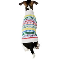Harry Barker Party Stripe Fair Isle Dog Sweater, Small
