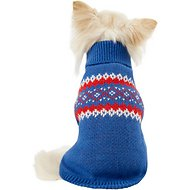 Harry Barker Classic Stripe Fair Isle Dog Sweater, X-Small