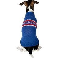 Harry Barker Classic Stripe Fair Isle Dog Sweater, Small