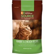 Simply Nourish Source Rabbit & Chicken Recipe High-Protein Grain-Free Adult Dry Cat Food, 6-lb bag