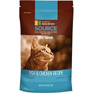 Simply Nourish Source Fish & Chicken Recipe High-Protein Grain-Free Adult Indoor Dry Cat Food, 6-lb bag