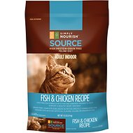 Simply Nourish Source Fish & Chicken Recipe High-Protein Grain-Free Adult Indoor Dry Cat Food, 12-lb bag
