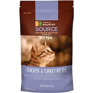Simply Nourish Source Chicken & Turkey Recipe High-Protein Grain-Free Kitten Dry Cat Food, 6-lb bag