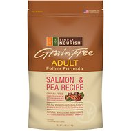 Simply Nourish Grain-Free Salmon & Pea Recipe Adult Dry Cat Food, 6-lb bag