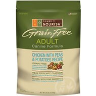 Simply Nourish Grain-Free Chicken with Peas & Potatoes Recipe Adult Dry Dog Food, 24-lb bag