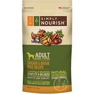Simply Nourish Chicken & Brown Rice Recipe Adult Dry Dog Food, 6-lb bag