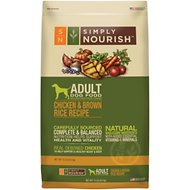 Simply Nourish Chicken & Brown Rice Recipe Adult Dry Dog Food, 15-lb bag