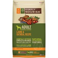 Simply Nourish Lamb & Oatmeal Recipe Adult Dry Dog Food, 15-lb bag (original)
