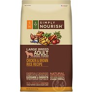 Simply Nourish Chicken & Brown Rice Recipe Large Breed Adult Dry Dog Food, 30-lb bag