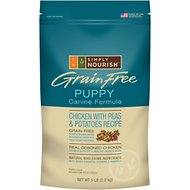 Simply Nourish Grain-Free Chicken with Peas & Potatoes Recipe Puppy Dry Dog Food, 5-lb bag