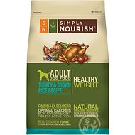 Simply Nourish Healthy Weight Turkey & Brown Rice Recipe Adult Dry Dog Food, 15-lb bag