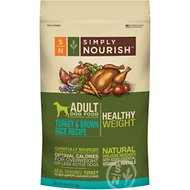 Simply Nourish Healthy Weight Turkey & Brown Rice Recipe Adult Dry Dog Food, 30-lb bag