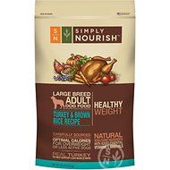 Simply Nourish Healthy Weight Turkey & Brown Rice Recipe Large Breed Adult Dry Dog Food, 30-lb bag