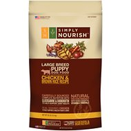 Simply Nourish Chicken & Brown Rice Recipe Large Breed Puppy Dry Dog Food, 30-lb bag