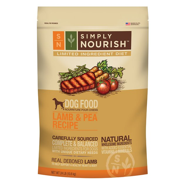 Simply Nourish Limited Ingredient Diet Lamb Pea Recipe Dry Dog