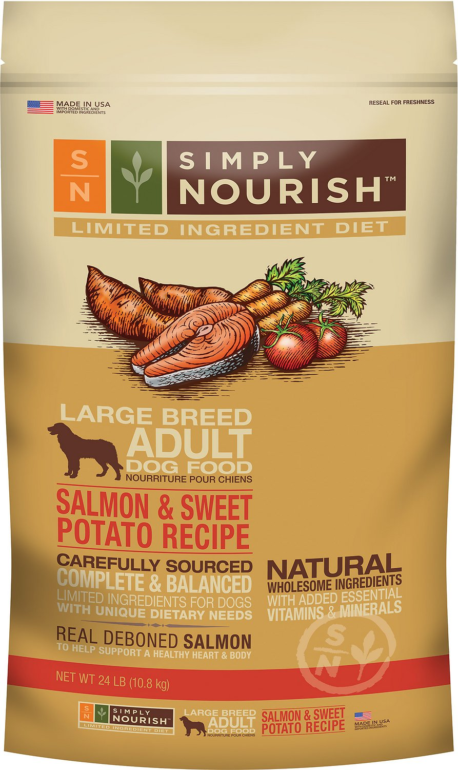 Simply Nourish Salmon And Sweet Potato Dog Food Reviews