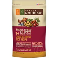 Simply Nourish Chicken & Brown Rice Recipe Small Breed Puppy Dry Dog Food, 6-lb bag