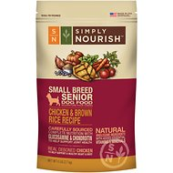 Simply Nourish Chicken & Brown Rice Recipe Small Breed Senior Dry Dog Food, 6-lb bag