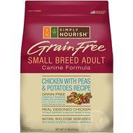 Simply Nourish Grain-Free Chicken with Peas & Potatoes Recipe Small Breed Adult Dry Dog Food, 11-lb bag