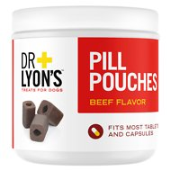 Dr. Lyon's Pill Pouches Beef Flavor Dog Treats, 30 count