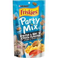 Friskies Party Mix Tender Crunchy Lobster Mac N' Cheese Cat Treats, 2.1-oz bag