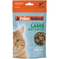 Feline Natural Lamb Healthy Bites Grain-Free Freeze-Dried Cat Treats, 1.76-oz bag
