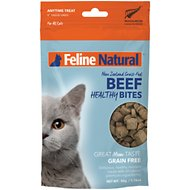 Feline Natural Beef Healthy Bites Grain-Free Freeze-Dried Cat Treats, 1.76-oz bag