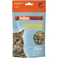 Feline Natural Chicken Healthy Bites Grain-Free Freeze-Dried Cat Treats, 1.76-oz bag