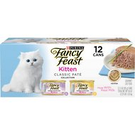 Fancy Feast Tender Feast Kitten Variety Pack Canned Cat Food, 3-oz, case of 12