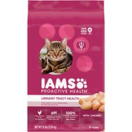 Iams ProActive Health Urinary Tract Health with Chicken Adult Dry Cat Food, 16-lb bag