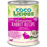 Party Animal Cocolicious I'm Wholesome Rabbit Recipe Grain-Free Canned Dog Food, 13-oz, case of 12