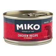 Miko Whole Ingredient Chicken Recipe in Consommé Grain-Free Canned Cat Food, 3-oz, case of 12