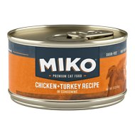 Miko Whole Ingredient Chicken & Turkey Recipe in Consommé Grain-Free Canned Cat Food, 3-oz, case of 12