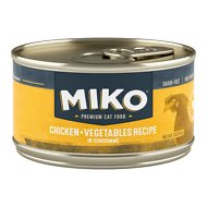 Miko Whole Ingredient Chicken Vegetables Recipe in Consommé Grain-Free Canned Cat Food, 3-oz, case of 12