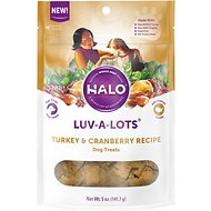 Halo Luv-a-Lots Turkey & Cranberry Recipe Dog Treats, 5-oz bag