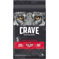 Crave High Protein Beef Adult Grain-Free Dry Dog Food, 22-lb bag