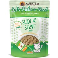 Weruva Slide N' Serve Let's Make a Meal Lamb & Mackerel Dinner Pate Grain-Free Cat Food Pouches, 2.8-oz pouch, case of 12