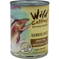 Wild Calling Rainbow River Salmon Recipe Grain-Free Adult Canned Dog Food, 13-oz, case of 12