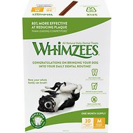 WHIMZEES Stix 30 Day Dental Dog Treats, 30 count, Medium