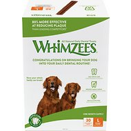 WHIMZEES Stix 30 Day Dental Dog Treats, 30 count, Large