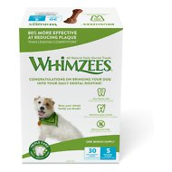 WHIMZEES Brushzees 30 Day Dental Dog Treats, 30 count, Small