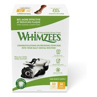 WHIMZEES Brushzees 30 Day Dental Dog Treats, 30 count, Medium