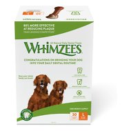 WHIMZEES Brushzees 30 Day Dental Dog Treats, 30 count, Large