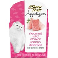 Fancy Feast Appetizers Wild Alaskan Salmon Cat Treats, 1.1-oz tray, case of 10