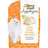 Fancy Feast Appetizers White Meat Chicken in a Tuna Broth Cat Treats, 1.1-oz tray, case of 10