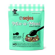 Sojos Mix-A-Meal Turkey Grain-Free Freeze-Dried Raw Dog Food Topper, 8-oz bag