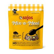 Sojos Mix-A-Meal Beef Grain-Free Freeze-Dried Raw Dog Food Topper, 8-oz bag