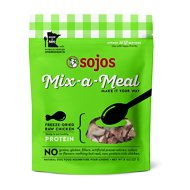 Sojos Mix-A-Meal Chicken Grain-Free Freeze-Dried Raw Dog Food Topper, 8-oz bag